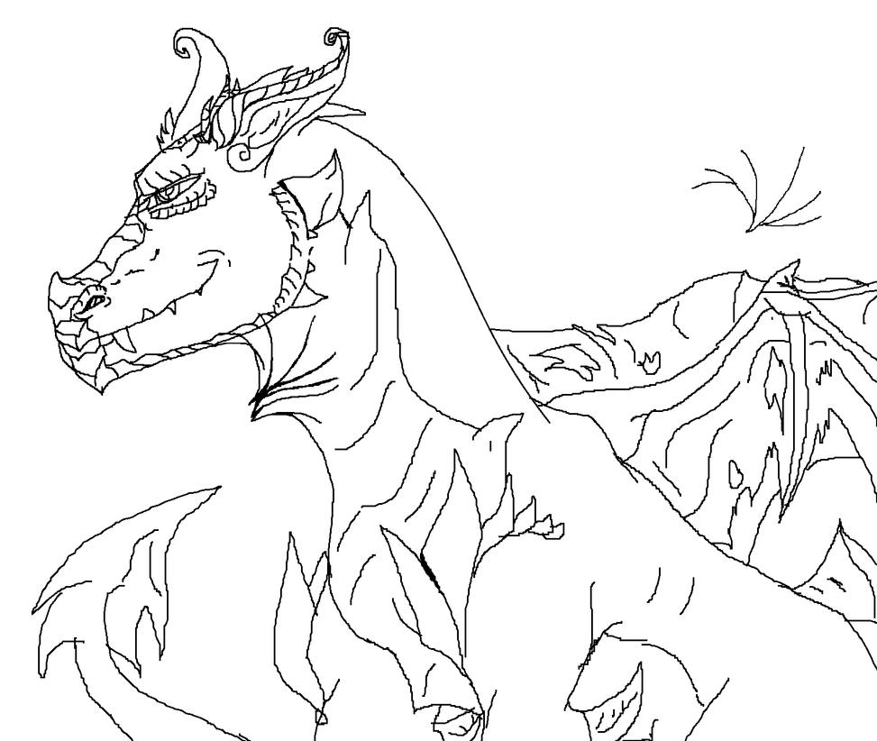 Garthon#1.0 - Free Dragon Base/Line Art CREDIT! by WonderlandTrades