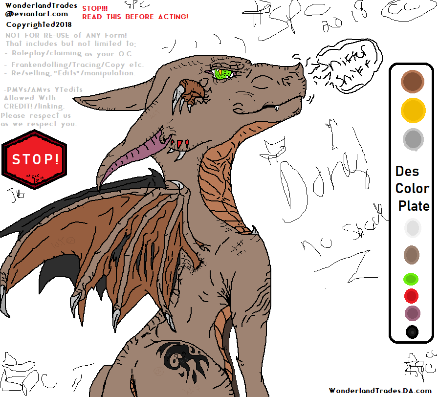 MS Paint : Another Random Doodler / Dragon Chara by WonderlandTrades