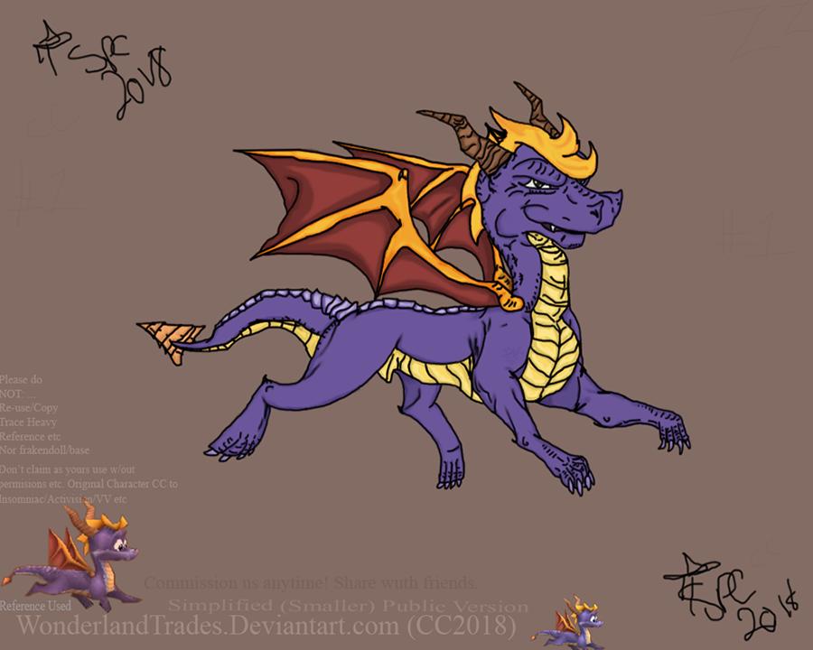Spyro - The Dragon [Non-profit - Fan-Art FOR FUN!] by WonderlandTrades