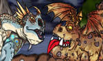 HTTYD: Discovery Duo , Stormfly and Meatlug