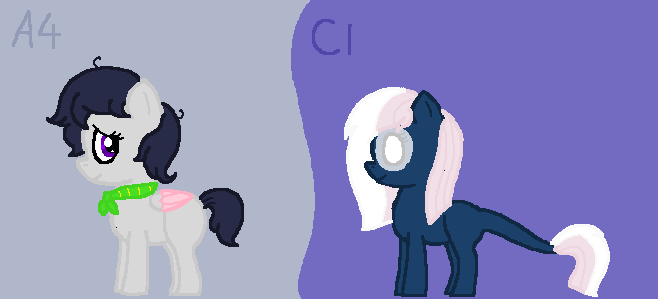 A4 and C1 for RatherNice by ShimmerStarGirl12