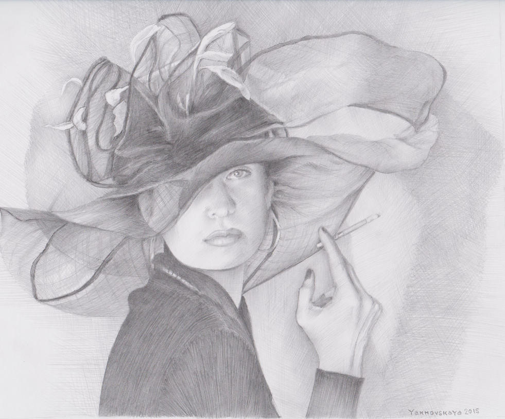 I like to draw pencilportraits by Yakhovskaya