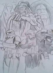 Star wars painting preparation by AdamTomkinsArt