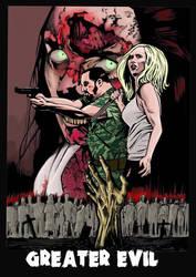 Greater Evil poster/cover art by AdamTomkinsArt