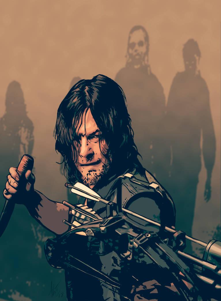 Daryl Dixon by AdamTomkinsArt