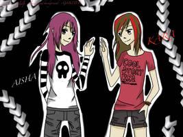 Aisha (~G4B2TER OC) and Kara (~atlgdlp OC) by G4B2TER
