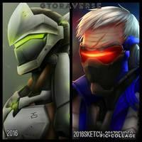Gtoraverse Overwatch Fanart by G4B2TER