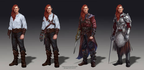 Maedhros outfit variations by jyongyi