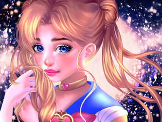 Sailor Moon semi-realism by MoonRamen