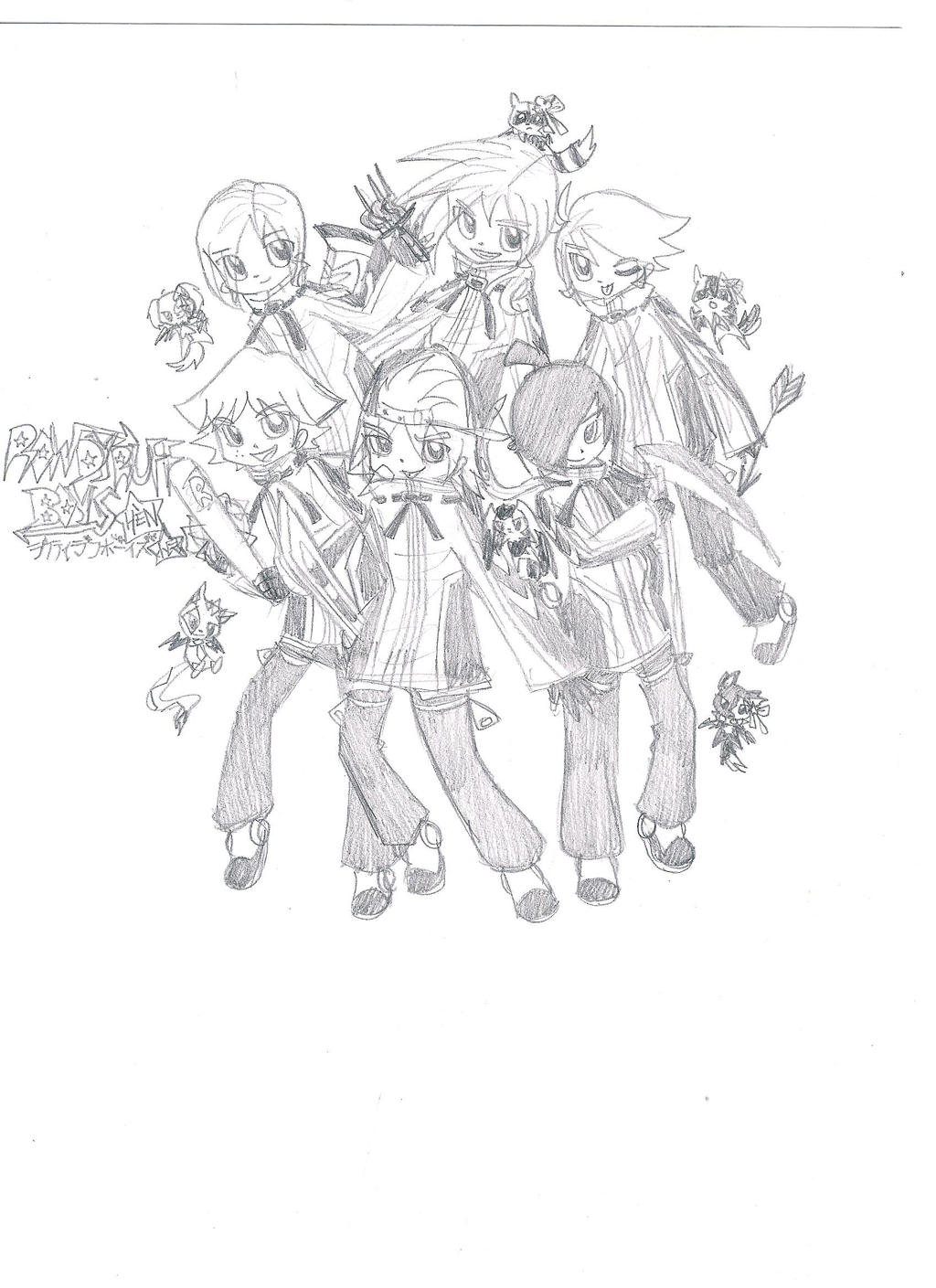 preview poster image rowdyruff boys hen sketch by kuku88 on