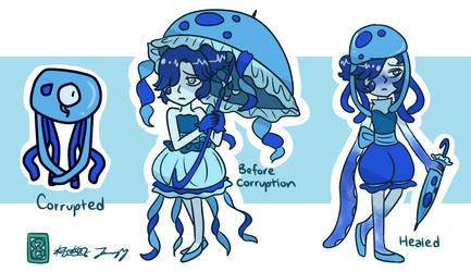 Corrupted Lapis (Before and After) by kuku88