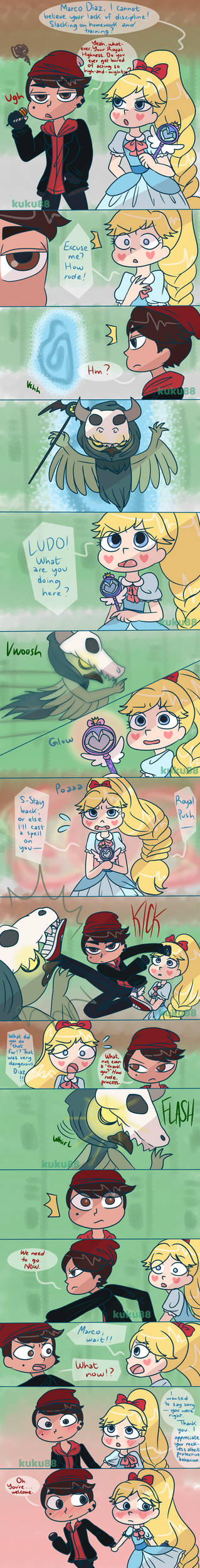 Starco Week 2019: Day 2: Bad Boy x Princess AU by kuku88 on DeviantArt