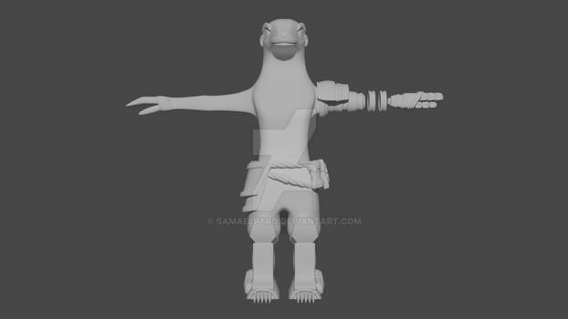 Amanidae 3D Model 2 Render2