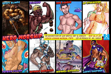 Hero Worship Art Exhibition by LuckySanford