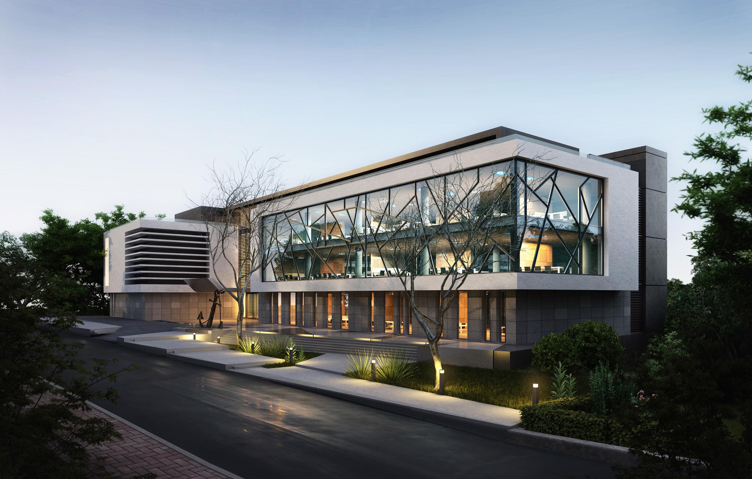 Shipping office altunizade by ertugy on deviantart for Modern office exterior design