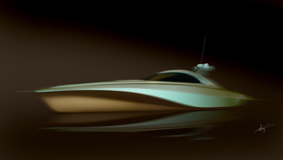 motor boat design by Ertugy