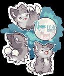 Halloween Paca Calendar - three wolf moon