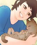 sunlit kitten fluff