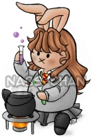 Hermione drawn Hare Style by Nabs-chan