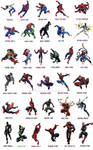 Spiderman Costume changes over years (Earth616)