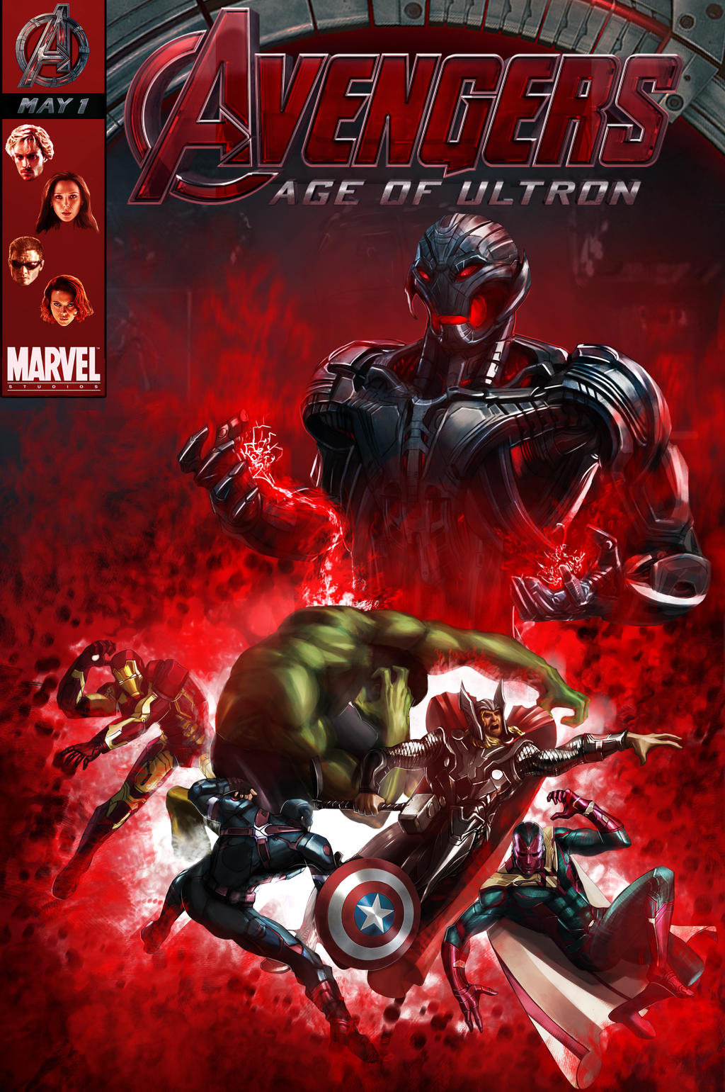 Avengers Age Of Ultron By Iloegbunam On Deviantart: Avengers Age Of Ultron Fanart Poster By Funnyberserker On