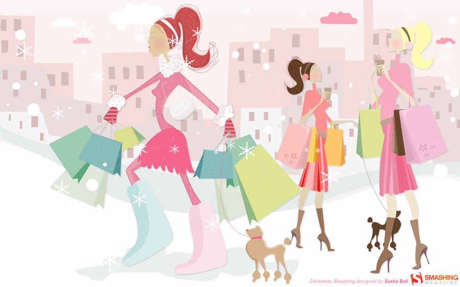Christmas Shopping Design By Thesashabell