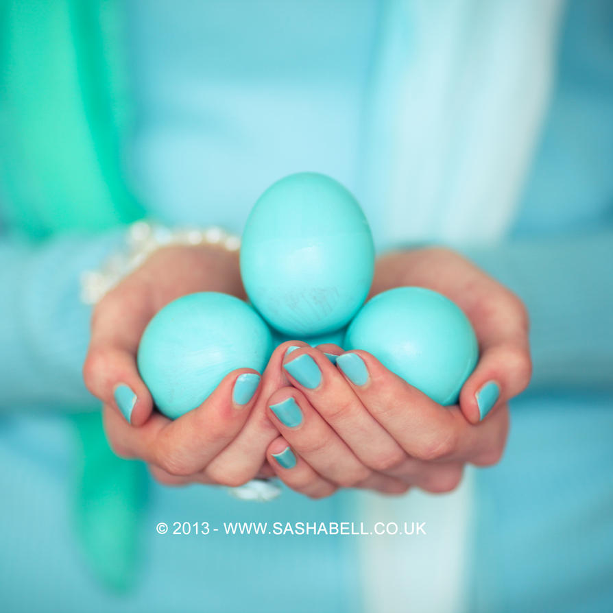 Blue Easter Eggs by thesashabell