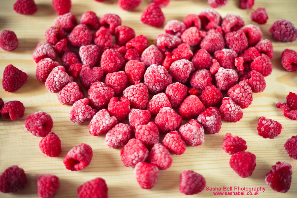 Raspberries In Heart Shape by thesashabell