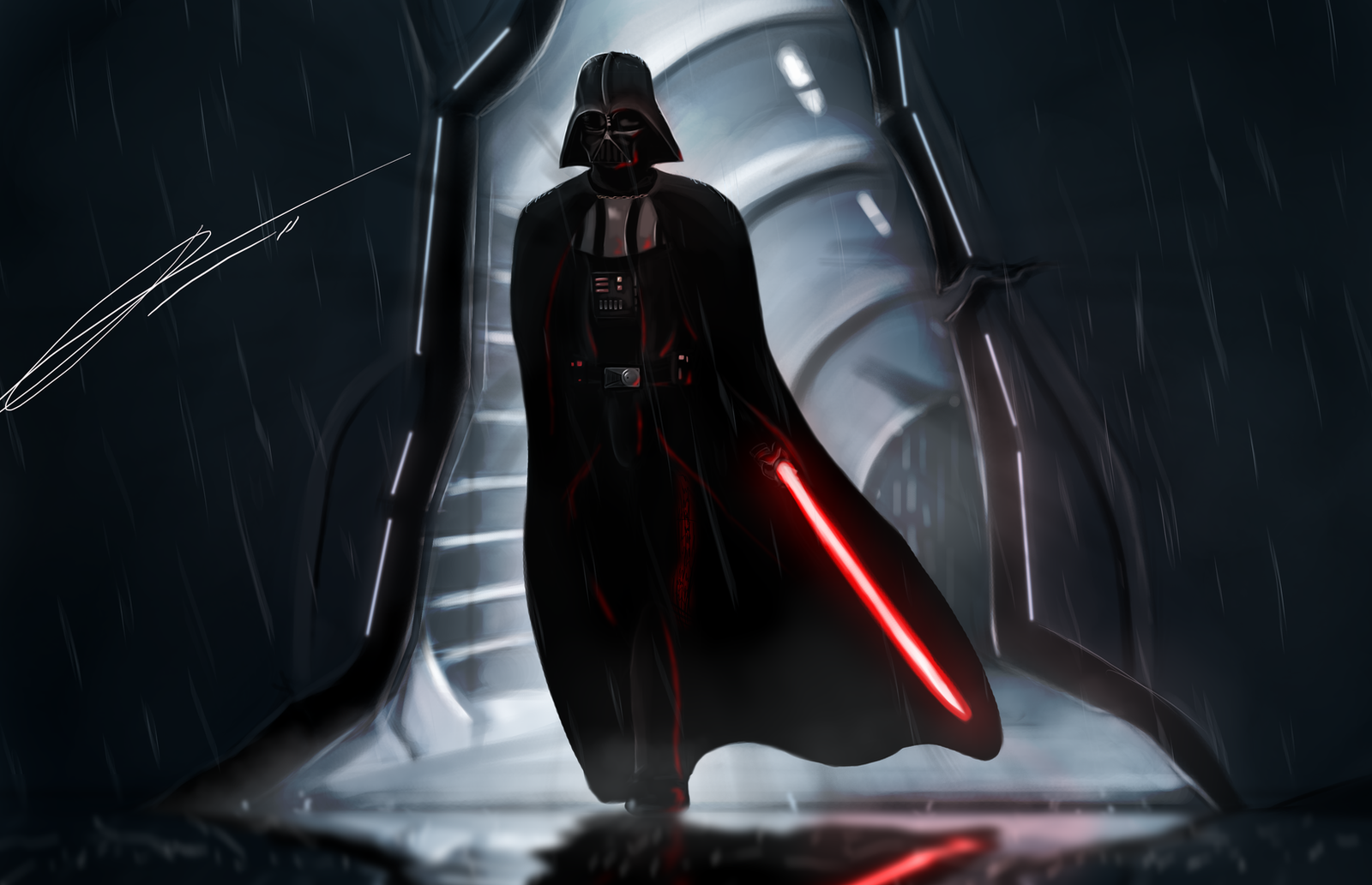 Lord Vader at Kamino by Jord-UK