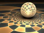Golden Disco Ball by Shortgreenpigg