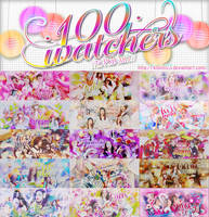 [SHARE PSD] HAPPY 100 WATCHERS BY KHOITT123 by KhoiTT123