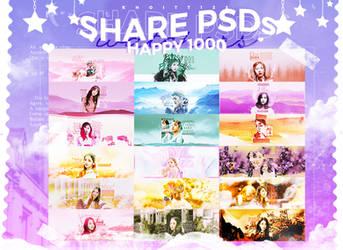 [ SHARE PSDS ] HAPPY 1000 WATCHERS by KhoiTT123