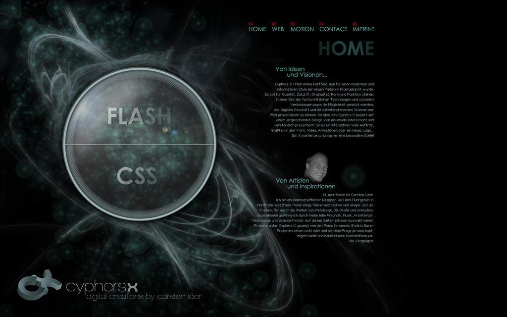 Weird Webportfolio by cyphers-x