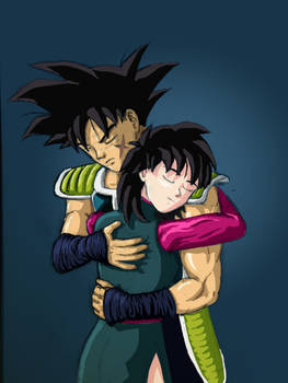 Bardock and Gine what if crossover