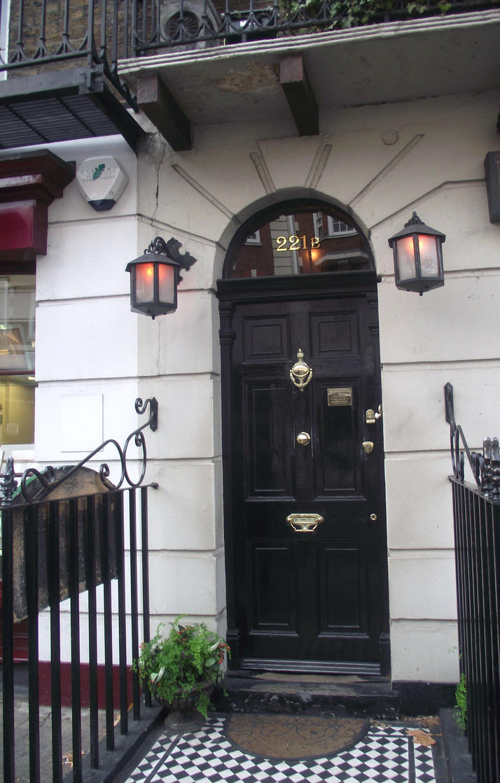 221b Baker Street Door Background at 221b Baker Street And