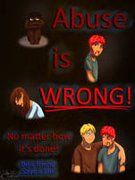 Abuse is WRONG! by MimmiMeArt
