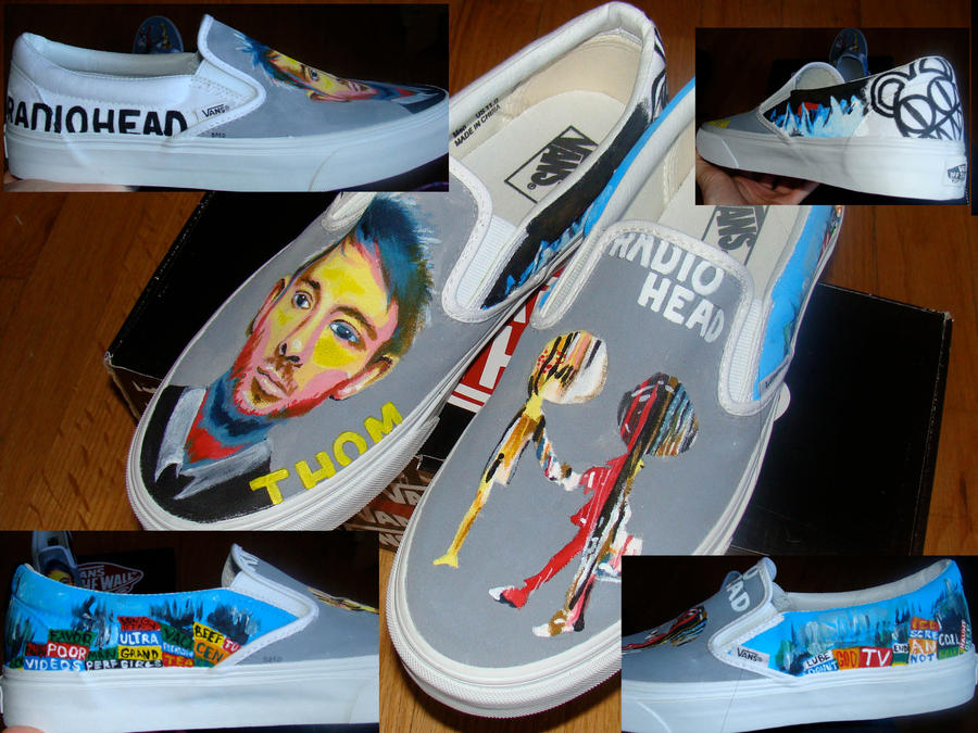 Radiohead Shoes by betsymae92