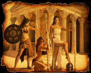Charlie's Angels 200 AD by mackrafty
