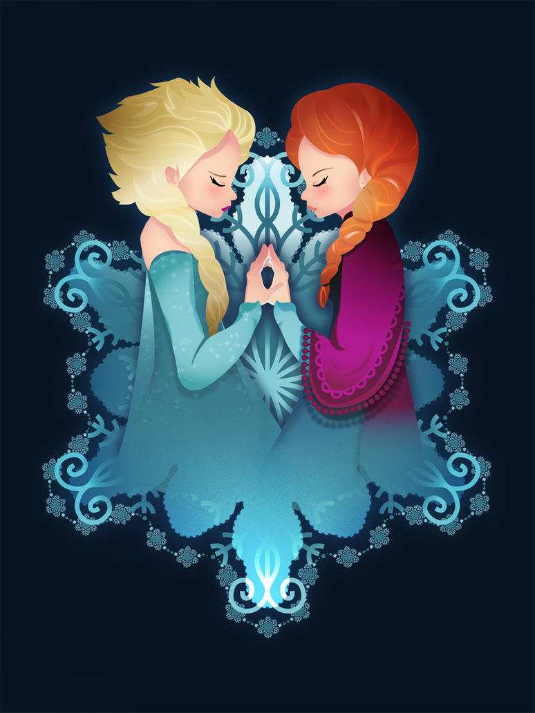 Frozen: Elsa and Anna by supertoki