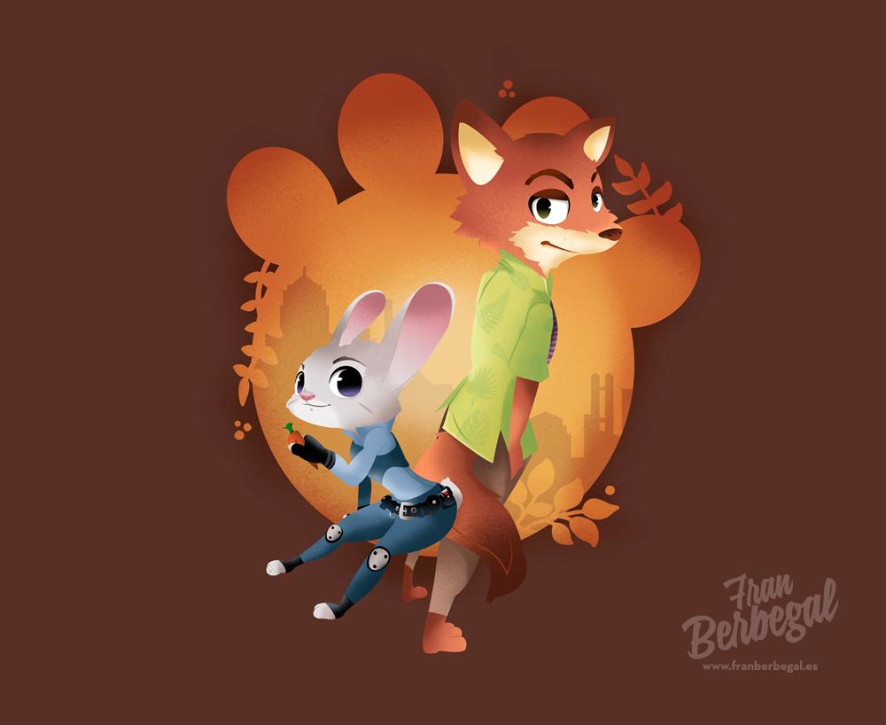 Ausmalbild Nick Und Judy Hopps Aus Zootopia: ZOOTOPIA Judy And Nick FANART By Supertoki On DeviantArt