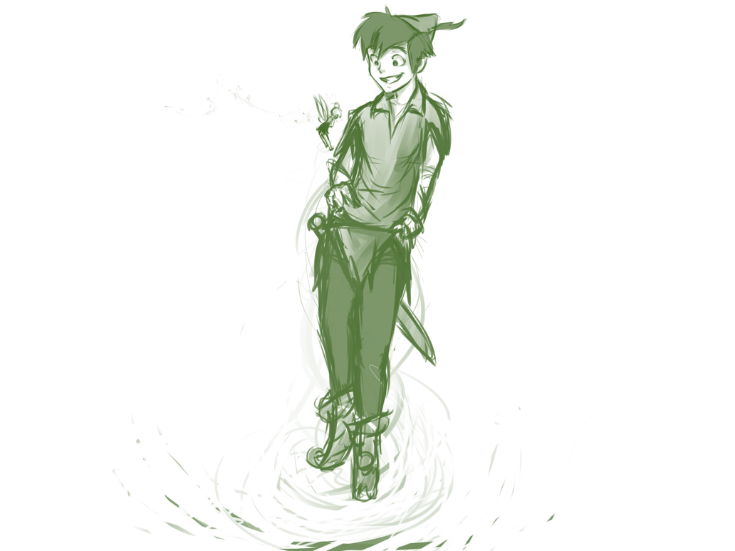 peter pan sketch by bookaholic5 on DeviantArt