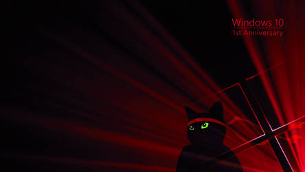Windows Insider Anniversary Ninja Cat Red by Kohlheppj13