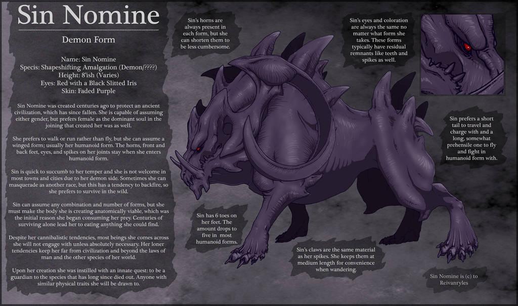 Sin Nomine Ref Sheet by ReivanRyles