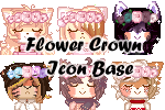 P2U - Flower Crown Icons Bases by SatouTenshi