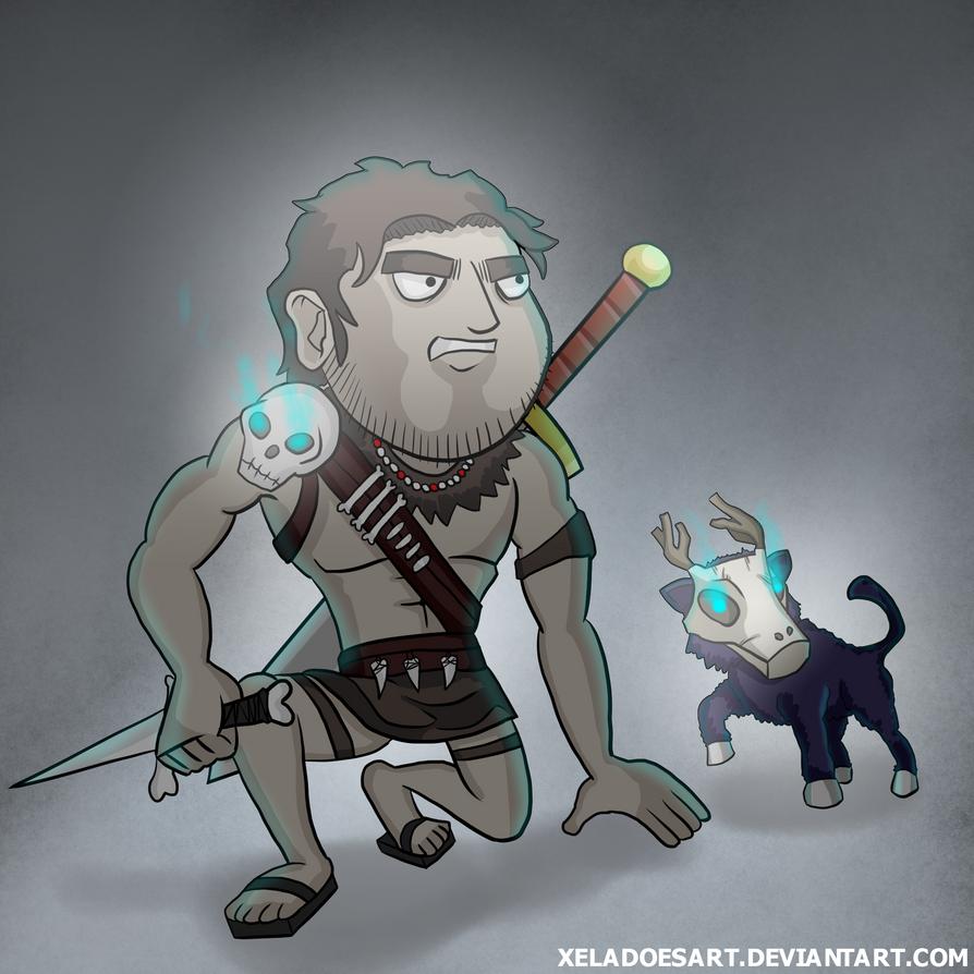 Jazza's Hero and Pet COTM by XelaDoesArt