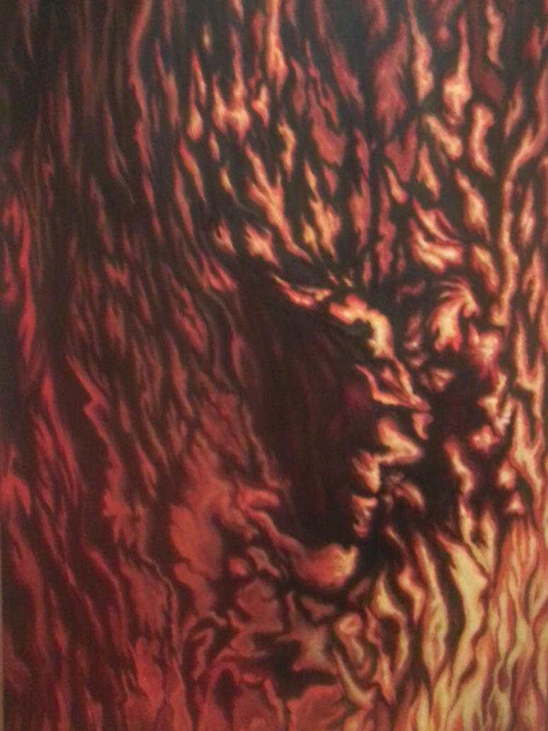 Twarz ognia / Face of fire by Lila-Rena