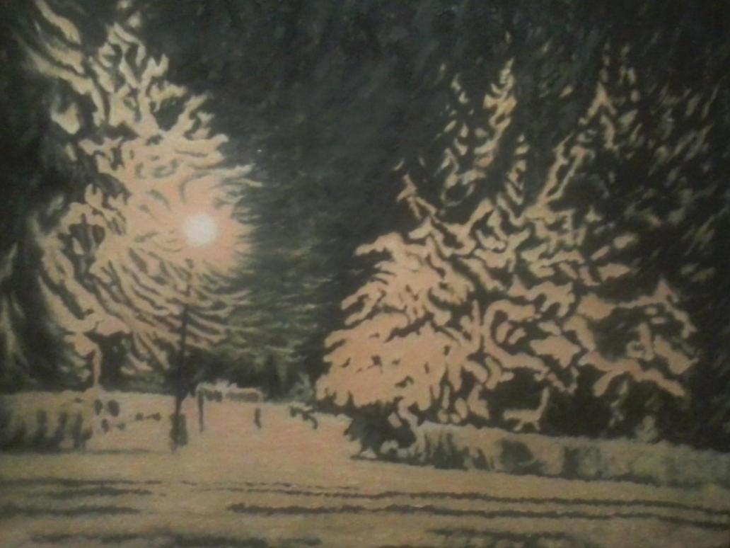 Zimowy przystanek / Winter stop by Lila-Rena