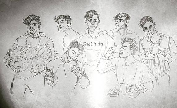 Doodles of Grayson Dolan