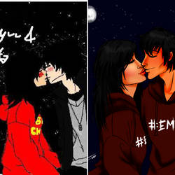 Kissing Under The Stars Before And After