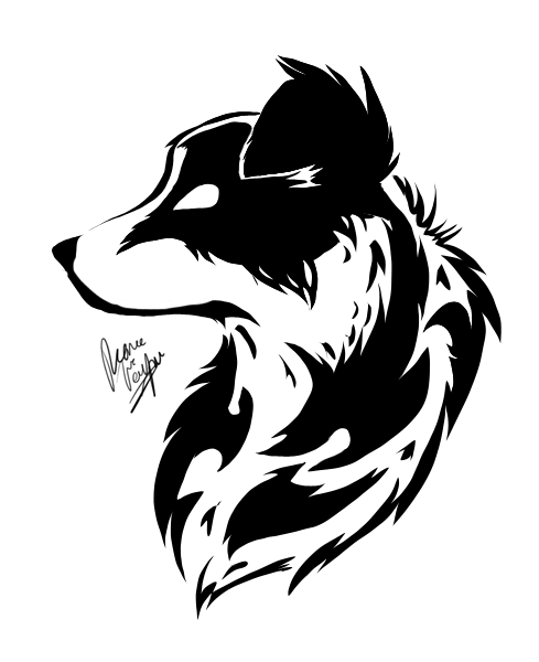 border collie tattoo by cross hearts on deviantart. Black Bedroom Furniture Sets. Home Design Ideas